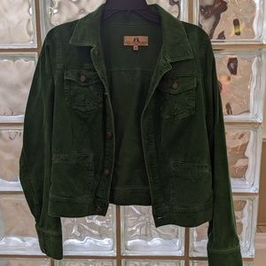 Juicy Couture Kelly Green Cord Jean Jacket